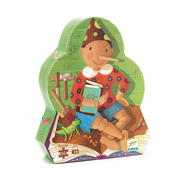 Djeco, puzzle w pudełku Pinokio
