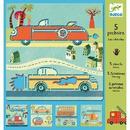 Szablony do rysowania pojazdy Djeco