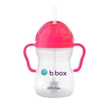 B.Box, Innowacyjny kubek niekapek z rurką neon różowy