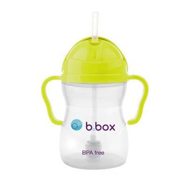B.Box, Innowacyjny kubek niekapek  z rurką neon ananasowy