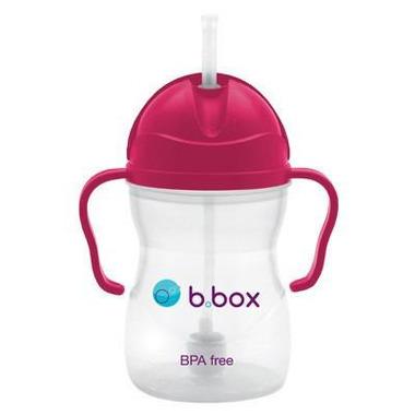 B.Box, Innowacyjny kubek niekapek z rurką różowy