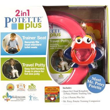 Potette Plus, Zestaw Potette Plus 2w1 książeczka + zabawka, różowy