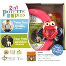 Potette Plus, Zestaw Potette Plus 2w1 - książeczka + zabawka, różowy