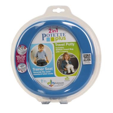 Potette Plus,  Nocnik turystyczny i nakładka na WC 2w1 Potette Plus niebieski
