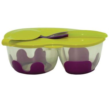 B.Box, Podwójny pojemnik na żywność b.box fioletowo-zielony