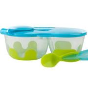 B.Box, Podwójny pojemnik na żywność b.box zielono-niebieski