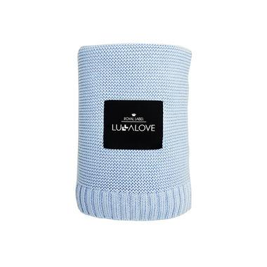 Lullalove, Bambusowy koc tkany niebieski