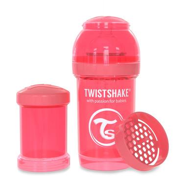 Twistshake, Butelka antykolkowa do karmienia 180ml brzoskwiniowa
