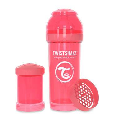 Twistshake, Butelka antykolkowa do karmienia 260ml brzoskwiniowa