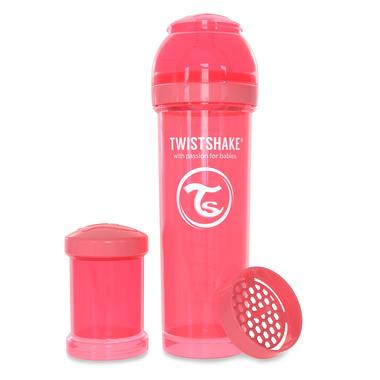 Twistshake, Butelka antykolkowa do karmienia 330ml brzoskwiniowa