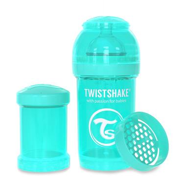 Twistshake, Butelka antykolkowa do karmienia 180ml turkusowa