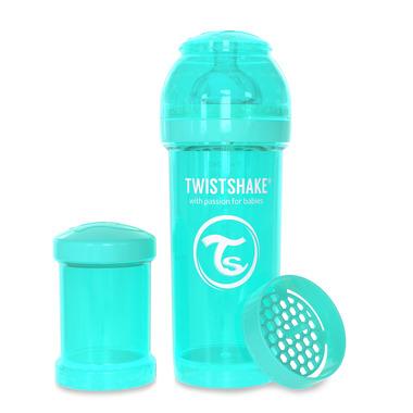Twistshake, Butelka antykolkowa do karmienia 260ml turkusowa