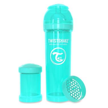 Twistshake, Butelka antykolkowa do karmienia 330ml turkusowa