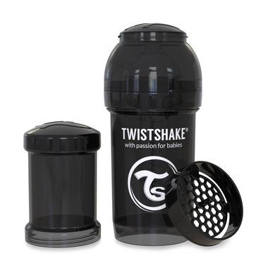 Twistshake, Butelka antykolkowa do karmienia 180ml czarna