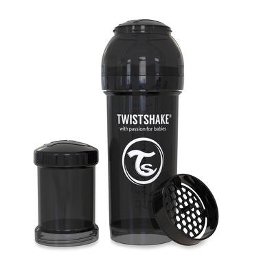 Twistshake, Butelka antykolkowa do karmienia 260ml czarna