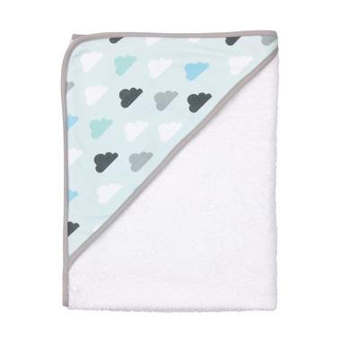 Bebe-jou, Ręcznik z kapturkiem Pastelowe chmurki 85 x 75 cm