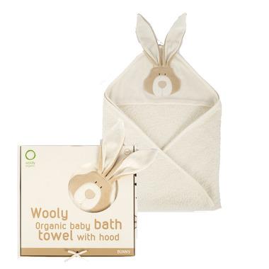 Wooly Organic, Classic Bunny, Zajączek Organiczny ręcznik kąpielowy z kapturem, 75x75cm