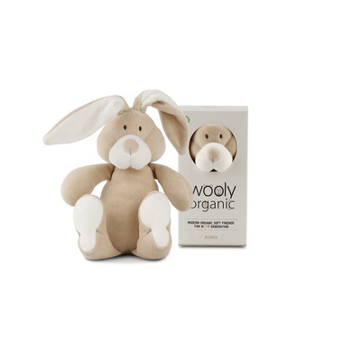 Wooly Organic, Classic Bunny, Zajączek przytulanka organiczna, 23 cm