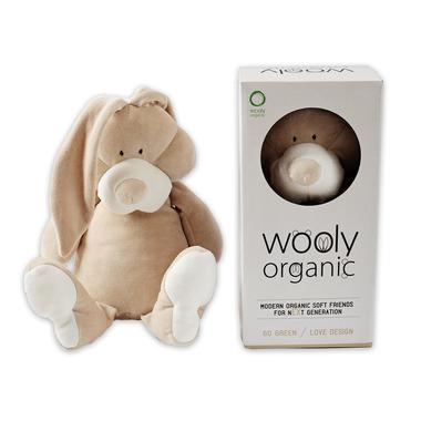 Wooly Organic, Classic Bunny, Zajączek przytulanka organiczna, 43 cm