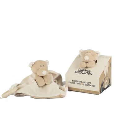 Wooly Organic, Classic Teddy, Miś przytulaczek z drewnianym gryzakiem, 24 cm