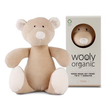 Wooly Organic, Classic Teddy, Miś przytulanka organiczna, 23 cm