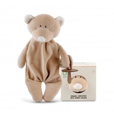 Wooly Organic, Classic Teddy, Miś Strażnik smoczka, 25 cm