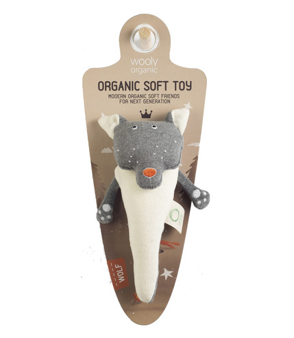 Wooly Organic, Funky Feet, Organiczna grzechotka, Wilk