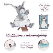 Kaloo, Osiołek Popielaty pierwsza przytulanka pacynka 30 cm kolekcja Les Amis