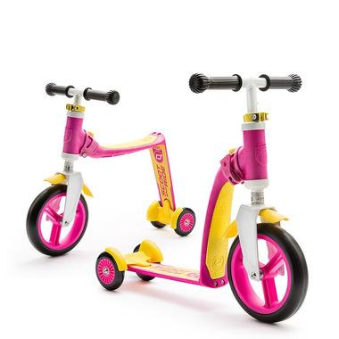 Scoot&Ride, sCOOTANDRIDE, Highwaybaby PLUS 2w1 hulajnoga i rowerek 1+ Pink