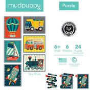 MUDPUPPY, Puzzle Patyczki Środki transportu 24 elementy