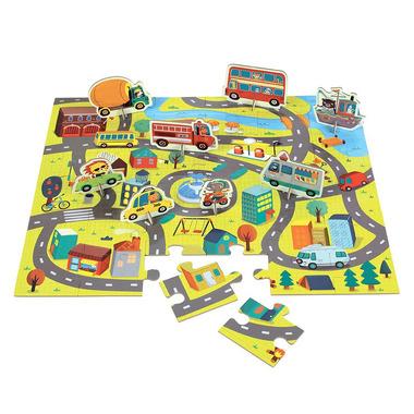 MUDPUPPY, Puzzle zestaw z 8 figurkami W mieście