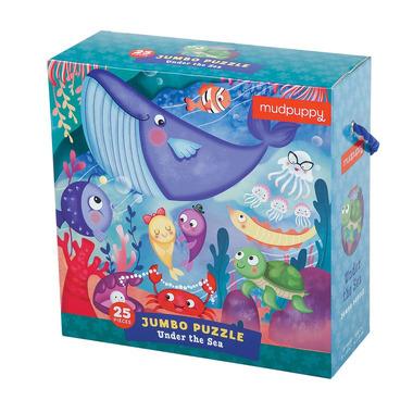 MUDPUPPY, Puzzle podłogowe Jumbo Podwodny Świat 25 elementów
