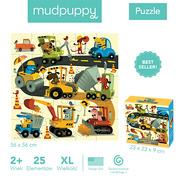 MUDPUPPY, Puzzle podłogowe Jumbo Budowa 25 elementów