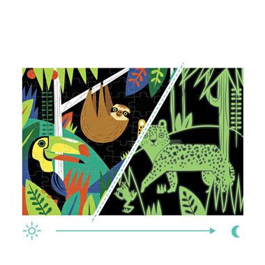 MUDPUPPY, Puzzle świecące w ciemności Las tropikalny 100 elementów