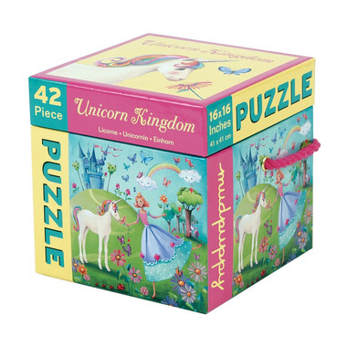 MUDPUPPY, Puzzle Królestwo Jednorożca 42 elementy