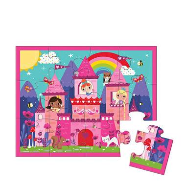 MUDPUPPY, Puzzle w saszetce Zamek księżniczki 12 elementów