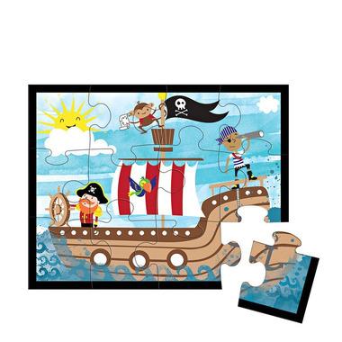 MUDPUPPY, Puzzle w saszetce Piraci 12 elementów