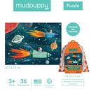 MUDPUPPY, Puzzle podróżne w woreczku Kosmos 36 elementów