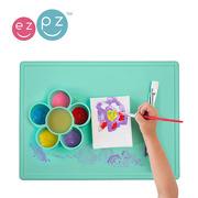 EZPZ, Silikonowa mata do zabawy z pojemniczkami 2w1 Flower Play Mat miętowa