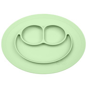 EZPZ, Silikonowy talerzyk z podkładką mały 2w1 Mini Mat pastelowa zieleń