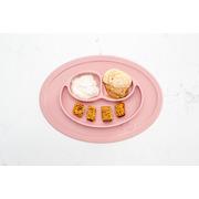 EZPZ, Silikonowy talerzyk z podkładką mały 2w1 Mini Mat pastelowy róż