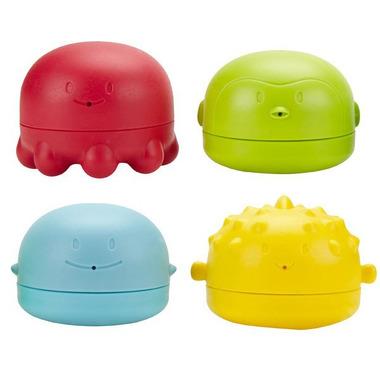 Ubbi, zestaw 4 zabawek do kąpieli - małe rybki