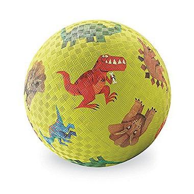 Crocodile Creek, Piłka 5 cali, 13 cm, wzór Dinozaury