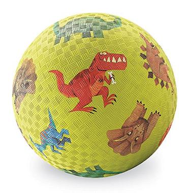 Crocodile Creek, Piłka 7 cali, 18 cm, wzór Dinozaury