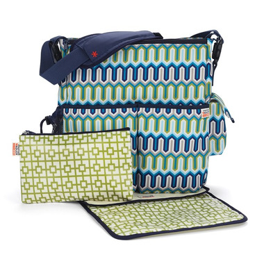 Skip Hop, torba Duo Blue Chevron