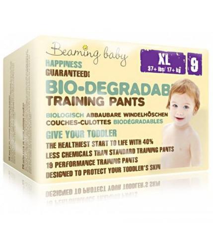 Beaming Baby, PANTS jednorazowe biodegradowalne pieluchomajtki, XL, 19 szt.