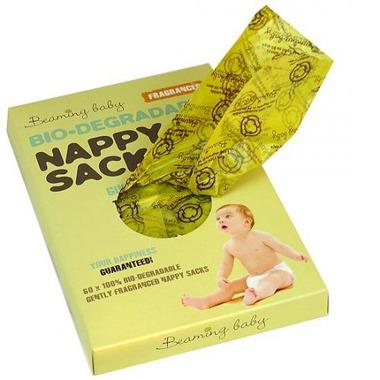Beaming Baby, Biodegradowalne Zapachowe Worki na Zużyte Pieluszki (60szt.)