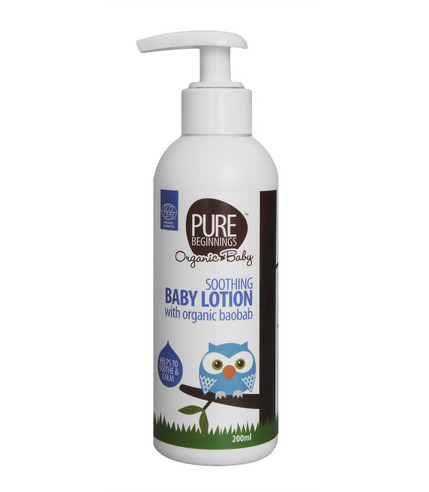 Pure Beginnings Organic Baby, Łagodzący Balsam do Ciała z Organicznym Olejem z Baobabu, 200ml