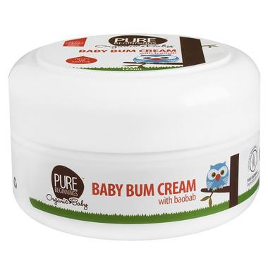 Pure Beginnings Organic Baby, Łagodzący Krem do pielęgnacji pupy z ekstraktem z Baobabu, 125ml