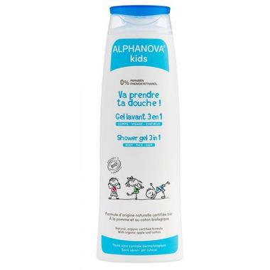 Alphanova Kids, Żel 3w1 do mycia ciała i włosów, 250ml